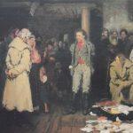 """Ilja Repin """"Verhaftung eines Propagandisten"""""""