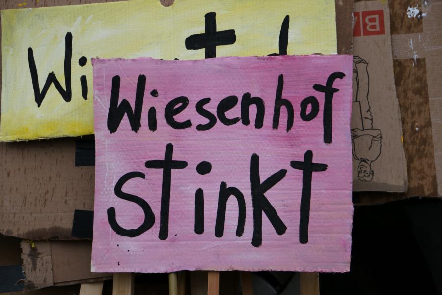 Protest gegen Wiesenhof in Königs Wusterhausen