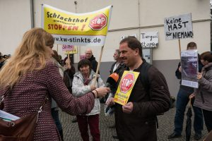Kundgebung zum Erörterungstermin in Königs-Wusterhausen