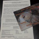 Postkarte und Begleitschreiben